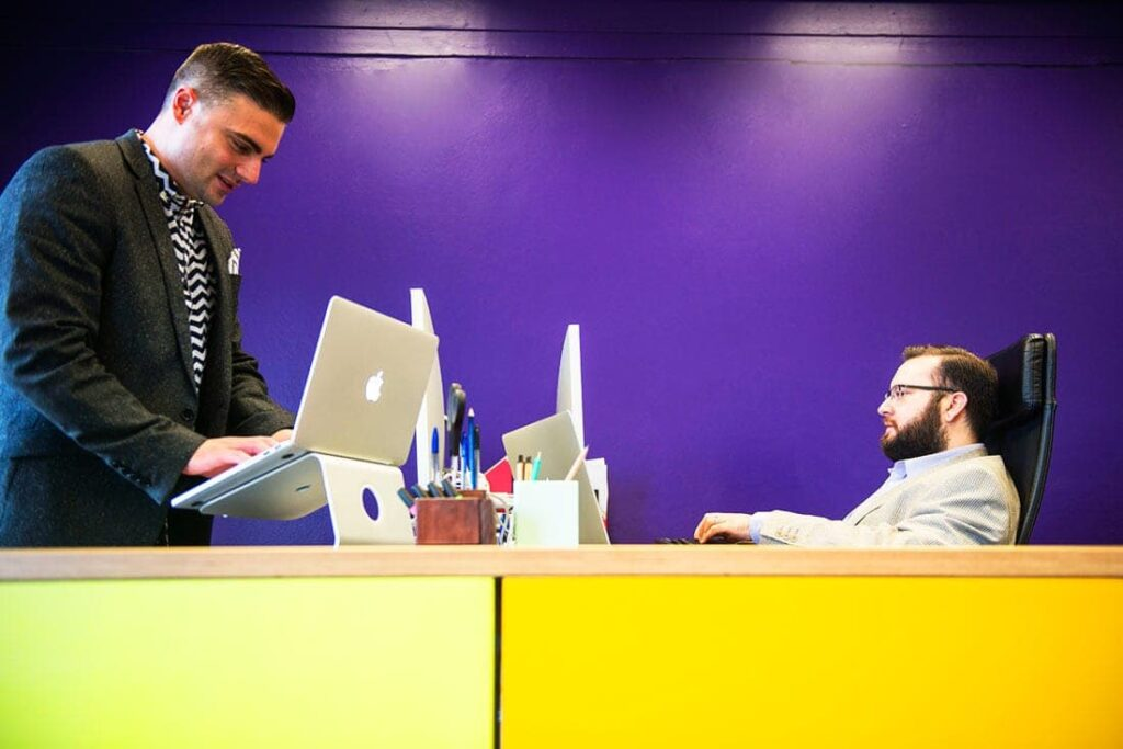 Web Developers Edward Prendergast and Dave Ohanjanian